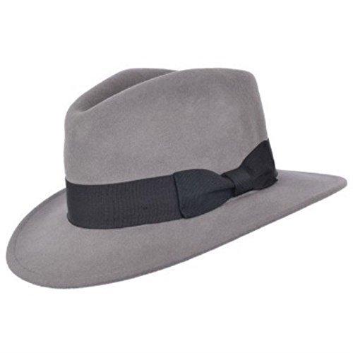 hommes-fait-a-la-main-100-wool-feutre-indiana-style-froissable-chapeau-borsalino-gris-medium-57cm