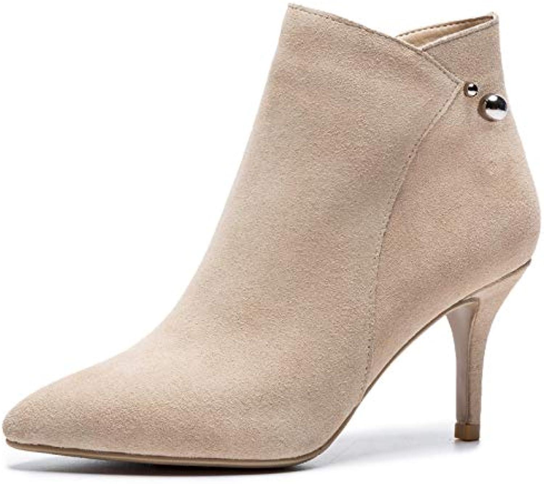 07bd931131b Womens Zip Ankle Boot Stiletto High Elegant Elegant Elegant Party Chelsea  Boots B07H9WZYJG Parent e5384d