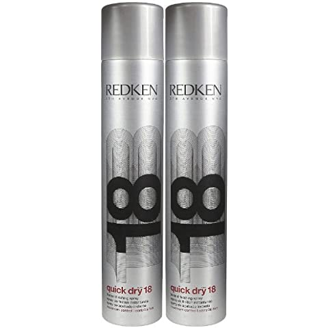 Redken Quick Dry 18 Instant Finishing Spray, 11 oz, 2 pk by Redken