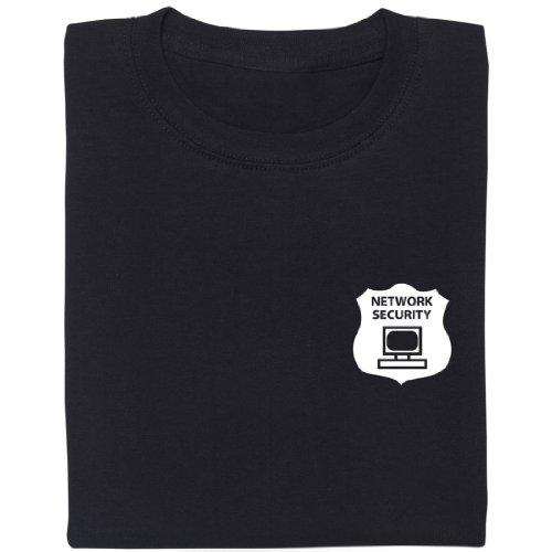 Network Security - Geek Shirt für Computerfreaks aus fair gehandelter Bio-Baumwolle Schwarz