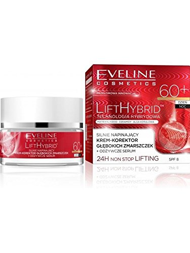 Eveline Cosmetics LIFT HYBRID ultra-Antifalten Creme- Serum für Tag &Nacht SPF 8 60+ 50 ml (60 Hybrid)