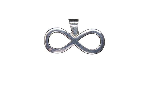 Lemniscate Ouroboros Pendente Infinito Simbolo delleternita Ciondolo in Solido Argento Sterling 925 P045