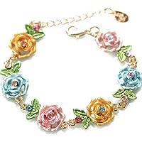 Winwinfly Jahrgang Armreif Blume Fußkettchen Armband Kette Einstellbare Knöchel Armbänder Mithelfer Geschenke (Stil 1)
