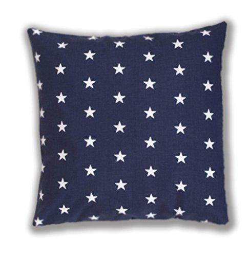 AMI Lian®-Cojín Almohada Cojín 40cm x 40cm Azul de estrellas