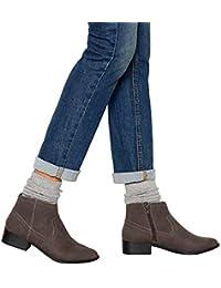 6d163c5039c Mantaray Womens Grey Suedette  Maggie  Block Heel Ankle Boots