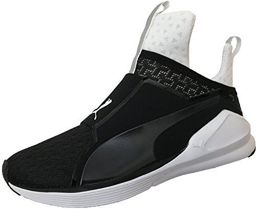 Puma Damen Fierce Eng Mesh Hohe Sneakers (42.5 Puma Black - Puma White) -