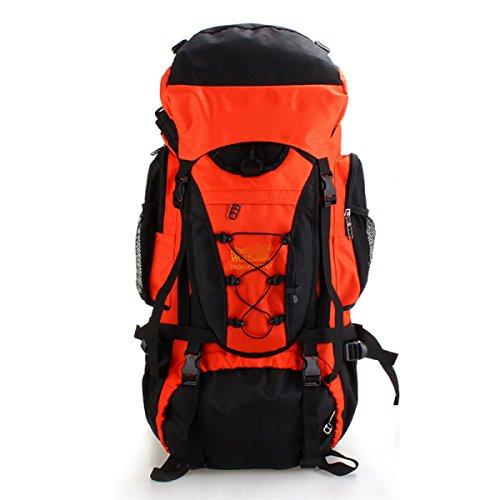 Zaino Da Sacco All'aperto Alpinismo Sacchetto Di Viaggio Di Grande Capacità A Piedi Selvaggio,OldBlue Orange