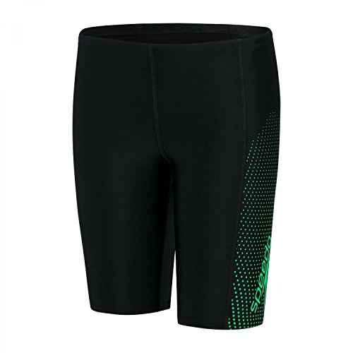 Speedo Jungen Gala Logo Panel Jammer Black/Fake Green, 30