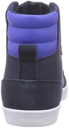 Hummel Unisex-Erwachsene Slimmer Stadil Duo Hi High-Top Blau (Total Eclipse 7364)