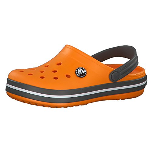 crocs Kinder Sandale Crocband Clog K 204537 Blazing Orange/Slate Grey 22-23