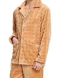 Hombres De Otoño E Invierno Hombres Pijamas Franela De Dos Moda De Cárnico Engrosamiento Cálido Servicio