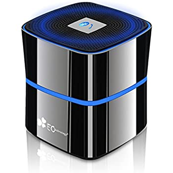 EC Technology verbesserte Bluetooth 4.0 tragbare Lautsprecher , 8 bis 12 Stunden Spielzeit mit Zinklegierung Schale- Titaniumgrau