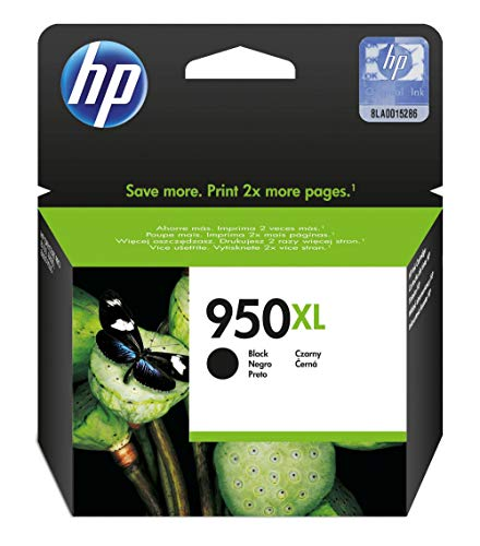 HP 950XL Cartouche d'encre Noire Grande Capacité Authentique pour OfficeJet Pro  251dw/276dw/8100/8600 (CN045AE)