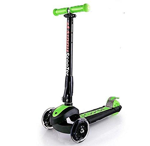 HJXJXJX Mehrfarbige optionale faltbare dreirädrige Faltroller , green