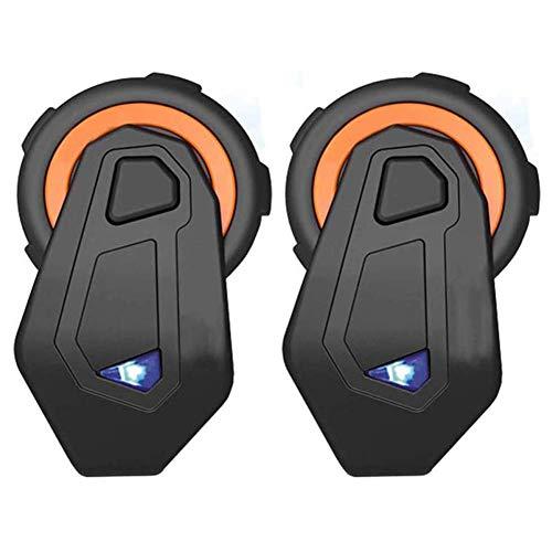 LPsweet Moto Bluetooth 5.0 Headphones, 1500 M Walkie Talkie con Cuffie Stereo Vivavoce Microfono Guida SICURA Hands-Free,onepair