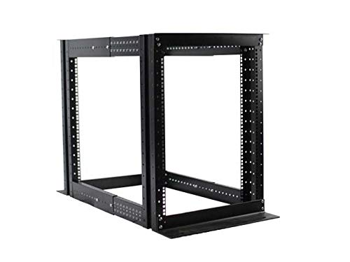 15U 4 Post Open Frame Server Rack Gehäuse 48,3 cm Tiefe Verstellbar -