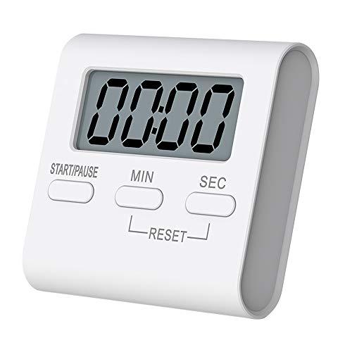 Temporizador de cocina, temporizador de cocina digital, pantalla de fuente grande y alarma de conteo...