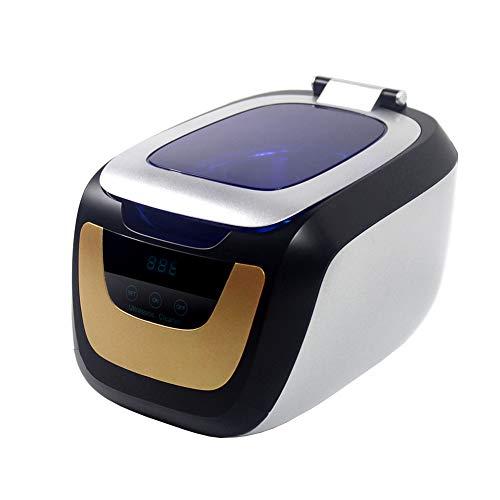 Lvein Ultraschallreiniger-Maschine, (750ml) Haushaltsschmuck-Uhren Dentures Gläser Münzen und mehr, Personal Care Cleaner mit erweitertem Timer