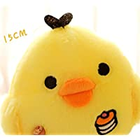 CYNDIE Juguete relleno amarillo del polluelo Amortiguador precioso medio de la almohada de la muñeca de