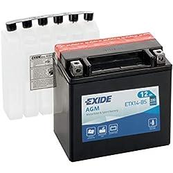 Exide Bike Batterie YTX14-BS - 12V - 12Ah - DIN 512 14-150mm x 87mm x 145mm - M04 Pol