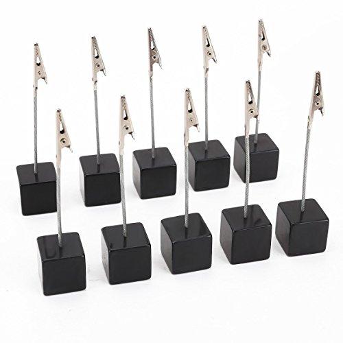 VORCOOL Kartenhalter Cube Memo Halter Card Clip Foto Büroklammern Hinweis - 10 Stück (schwarz)