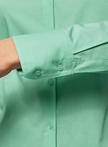 oodji Ultra Donna Camicia Basic in Cotone Verde (6501N)