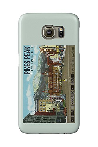 Colorado Springs, Colorado - View of Pikes Peak from Pikes Peak Ave (Galaxy S6 Cell Phone Case, Slim Barely There) -