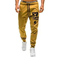 Daylin Daily Soft Men Sweatpants Slacks Casual Elastic Joggings Sport Print Baggy Pockets Trousers