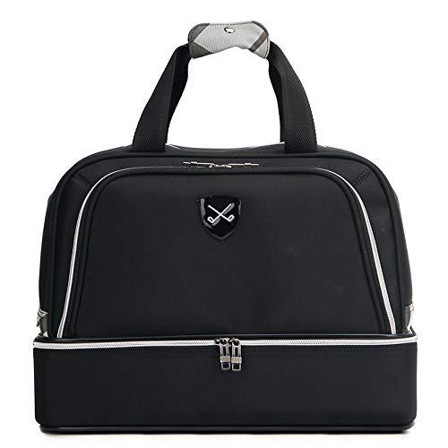XY-golf stuff Praktische Golftasche für Männer, doppelte Lagen, Handtasche, Sporttasche im Freien, leicht, Fitness, Gymnastik, Reisetasche, für Männer und Frauen, langlebig, Schwarz, 45 * 26 * 34cm -