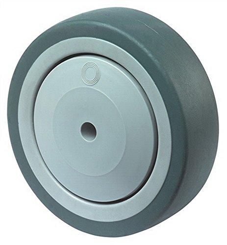 Rad D.80mm Tragfähigkeit 80kg Vollgummirad blaugrau Nabenlänge 37mm
