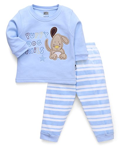 NammaBaby Full Sleeves Premium Sweat TShirt With Ribbed Pant Set With Stylish Look (3-6 months, BLUE)