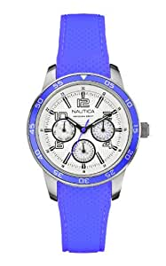 Nautica Damen-Armbanduhr Analog Quarz Silikon A15635M