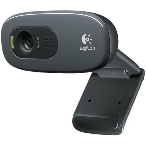Logitech C270 - Webcam USB, negro