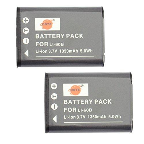 DSTE 2-Pack Ersatz Batterie Akku for Olympus Li-60B FE-370 Pentax D-LI78 Optio L50 M50 M60 S1 V20 W60 W80 Nikon EN-EL11 Coolpix S550 S560 Ricoh DB-80 R50 Sanyo DB-L70 Xacti VPC-E10 Kamera Nikon, Sanyo Xacti