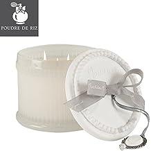 Mathilde M: caja grande con vela perfumada con 3 mechas (35H) – Ambientador