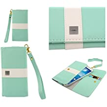 DFV mobile - Cover Premium with Color Line Design with Card Case for => No.1 I6 > Green