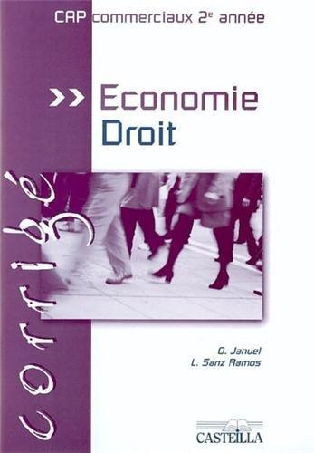 Economie-Droit CAP 2e année : Corrigé