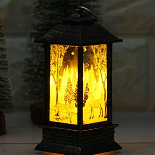 Prevently Weihnachten Lichter, Weihnachten Lichterkette Licht Simulation Flammenlicht Kleine Öllampe für Weihnachten Halloween Geburtstag Party, Kinder (Colour A)