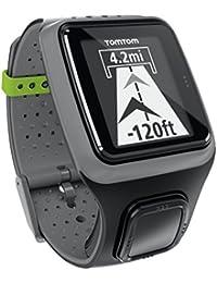 TomTom MultiSports GPS - Reloj con pulsómetro y GPS incluidos para triatletas, negro