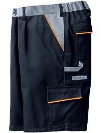 PLANAM Arbeits-Shorts Arbeits-Hose VISLINE - schwarz/orange/zink - Größe: XL