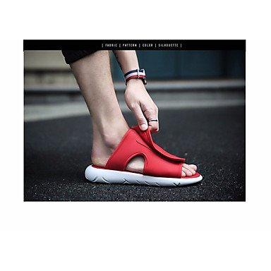 Slippers & amp da uomo;Sandali Comfort PU Primavera Casual Blu Rosso Nero Bianco sandali US11 / EU44 / UK10 / CN46