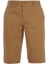 Kangol Herren Chino Shorts Sporthose GUertelschlaufen Taschen Freizeit Kurze Hose