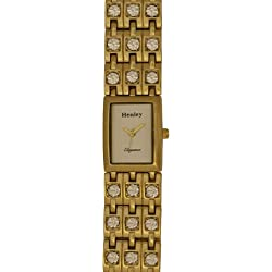 Henley Elegance Women's Fashion Quartz Watch with Mother of Pearl Dial Analogue Display and Gold Stainless Steel Plated Bracelet H4001.2