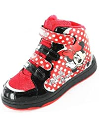 filles minnie mouse curs hi top noir formateurs