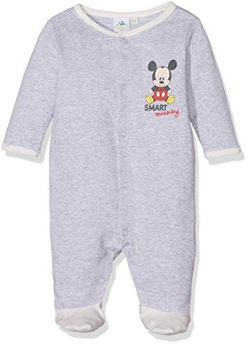 Disney mickey mouse smart, pagliaccetto bimbo, grigio (grey 11-0602tc), 0-3mesi (taglia produttore: 3mesi)