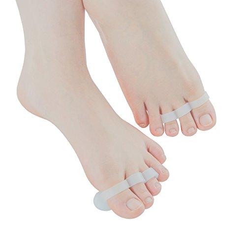 Rilievi di cresta del piede per i denti del martello Martello di puntamento del pugno di dito del martello Rilievo di dolore per il piede arricciato(1 coppia)