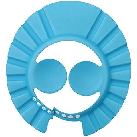 Anam 3pcs actualización orejeras de protección infantil Champú Cap, suave de bebé ducha baño sombrero diadema de ajustar