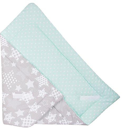 Babydecke zum Einwickeln Baby Einschlagdecke/Babyhörnchen 100% Baumwolle 80x80cm (Großer Stern)