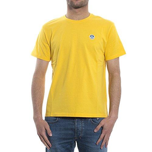 T-Shirt North Sails Uomo S/S W/Patch 694442 0035MARINE, M MainApps 0065YELLOW