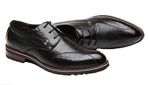 DADAWEN Homme Classique Automne Commercial Chaussure à Bout Pointu Noir